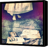 Haunted House Canvas Prints - Girl in Abandoned Room Canvas Print by Jill Battaglia