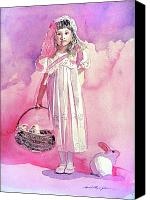 Parade Painting Canvas Prints - Girl in Pink Canvas Print by David Lloyd Glover