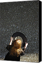 Asking Canvas Prints - Girl with empty hat waiting for donation Canvas Print by Matthias Hauser