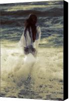 Sandy Beach Canvas Prints - Girl With Teddy Canvas Print by Joana Kruse