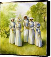 Unity Canvas Prints - Girls in the Band Canvas Print by Jane Whiting Chrzanoska