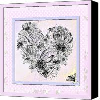 Artyzen Studios Canvas Prints - Girly Girl Happy Heart Canvas Print by ArtyZen Studios
