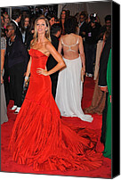 Metropolitan Museum Of Art Costume Institute Canvas Prints - Gisele Bundchen Wearing An Alexander Canvas Print by Everett