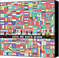 Other World Canvas Prints - Give me your hand Canvas Print by Stefan Kuhn