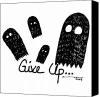 Spook Canvas Prints - Give Up Ghost Canvas Print by Karl Addison