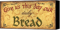 Bread Canvas Prints - Give us this Day Canvas Print by Debbie DeWitt