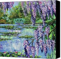 Monet Painting Canvas Prints - Giverny Lily Pond Canvas Print by Beata Sasik