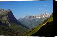 Continental Divide Canvas Prints - Glacier National Park MT - View from Going to the Sun Road Canvas Print by Christine Till