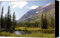 Marty Koch Canvas Prints - Glacier Ponds Canvas Print by Marty Koch
