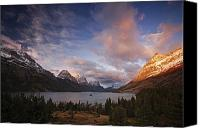 Saint Mary Canvas Prints - Glaciers Surround Saint Mary Lake Canvas Print by Michael Melford
