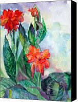 Flora Drawings Canvas Prints - Glad to be Canvas Print by Mindy Newman