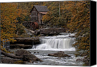 Grist Mill Canvas Prints - Glade Creek Mill 2011 Canvas Print by Wade Aiken