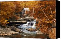 Grist Mill Canvas Prints - Glade Creek Mill Selective Focus Canvas Print by Tom Mc Nemar