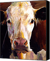 Cow Canvas Prints - Gladys the Cow Canvas Print by Cari Humphry