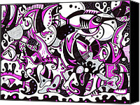 Unique Art Drawings Canvas Prints - Glamfish Canvas Print by Jayme Kinsey