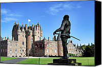 Fantasy Photo Canvas Prints - Glamis Castle with Statue Canvas Print by Jason Politte