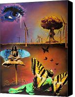 Apocalypse Mixed Media Canvas Prints - Glamorous Hara-Kiri Canvas Print by Iosua Tai Taeoalii