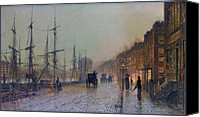 Grimshaw Canvas Prints - Glasgow Docks 1881 Canvas Print by Stefan Kuhn