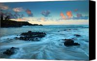 Glass Photo Canvas Prints - Glass Beach Dawn Canvas Print by Mike  Dawson