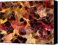 Marilyn Sholin Canvas Prints - Glass Leaves Canvas Print by Marilyn Sholin