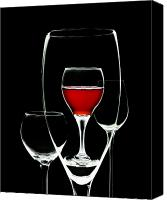 Wine Glass Photo Canvas Prints - Glass of Wine in Glass Canvas Print by Tom Mc Nemar