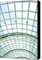 Hall Way Canvas Prints - Glass roof Canvas Print by Tom Gowanlock