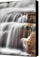 Ellicott Canvas Prints - Glen Falls Detail Canvas Print by James Marvin Phelps