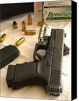 Remington Canvas Prints - Glock 45 Canvas Print by Rene Triay