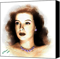 Silver Screen Actress Canvas Prints - Gloria DeHaven Canvas Print by Arne Hansen