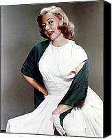 1950s Fashion Canvas Prints - Gloria Grahame, Ca. 1950s Canvas Print by Everett