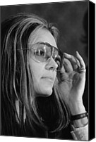 Politics Photo Canvas Prints - Gloria Steinem B. 1934, Feminist Canvas Print by Everett