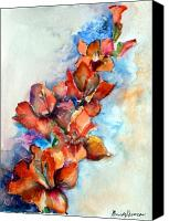 Flora Drawings Canvas Prints - Glorify Canvas Print by Mindy Newman