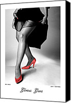 Nudes Canvas Prints - Glorious Gams - Red Shoes Canvas Print by Jerry Taliaferro