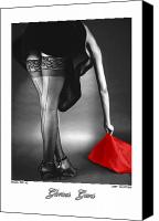 Nudes Canvas Prints - Glorious Gams - Seeing Red Canvas Print by Jerry Taliaferro