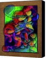 Monroe Mixed Media Canvas Prints - Glow Worm Canvas Print by Monroe Snook