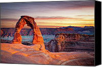 People Photo Canvas Prints - Glowing Arch Canvas Print by Mark Brodkin Photography