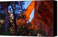 Southern Utah Canvas Prints - Glowing Arch Canvas Print by Scott McGuire
