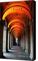 Hall Way Canvas Prints - Glowing Iteration Canvas Print by Andrew Paranavitana