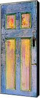 Door Sculpture Canvas Prints - Glowing Through Door Canvas Print by Asha Carolyn Young