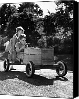 Cart Driving Canvas Prints - Go-carting Canvas Print by Archive Photos