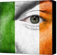 Football Canvas Prints - Go Ireland Canvas Print by Semmick Photo