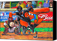 Major Canvas Prints - GO Orioles Canvas Print by Dan Haraga