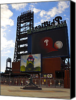 Phillie Canvas Prints - Go Phillies - Citizens Bank Park - Left Field Gate Canvas Print by Bill Cannon