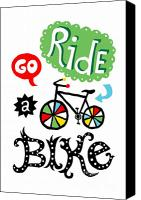 Biking Canvas Prints - Go Ride a Bike  Canvas Print by Andi Bird