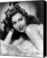 1940s Portraits Canvas Prints - Go West Young Lady, Ann Miller, 1941 Canvas Print by Everett
