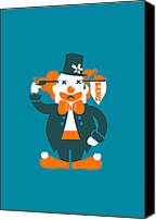 Clown Canvas Prints - Go with a bang Canvas Print by Budi Satria Kwan