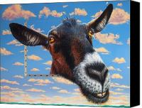 Goat Canvas Prints - Goat a la Magritte Canvas Print by Jurek Zamoyski