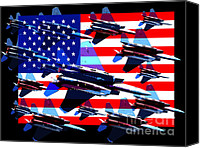 July 4th Canvas Prints - God Bless America Land Of The Free 2 Canvas Print by Wingsdomain Art and Photography