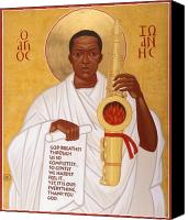 John Canvas Prints - God Breathes Through the Holy Horn of St. John Coltrane. Canvas Print by Mark Dukes
