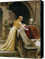Soldier Painting Canvas Prints - God Speed Canvas Print by Edmund Blair Leighton